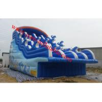 large inflatable water slide pool inflatable pool with slide inflatable 8m pool slide Manufactures