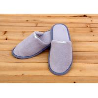 100 Percent Cotton Velour Velvet Disposable Hotel Slippers , Disposable Bathroom Slippers Manufactures