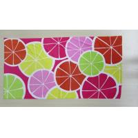 Buy cheap reactive dying 71*147cm customize printed beach towel  21s  TC flower from wholesalers