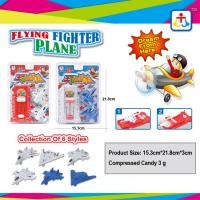 Collection of 6 styles flying fighter plane with press candy Manufactures