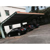 Small Car Parking Shed Garage Steel Frame With Red Arc Shape Roof Top Manufactures