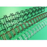 Quality Firm Material Colored Double Loop Wire 6.4mm 180 Flat Page Fixing for sale