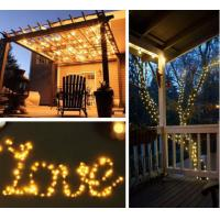 Quality 10M 20M Solar LED String Lights / Outdoor Copper Wire String Lights FOR for sale