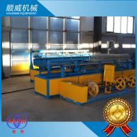 Double / Single Wire Automatic Chain Link Fencing Machine Knuckle Or Twist Edge Manufactures