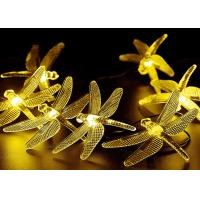 China LED Solar String Lights Outdoor Multicolor Dragonfly 20 LEDs Waterproof with 8 Modes on sale