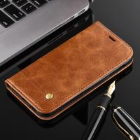 Quality Oily Vintage Samsung A3 Leather Case , Retro Line Cell Phone Leather Wallet Case for sale