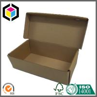 Plain Brown Corrugated Shoe Shipping Box; Cardboard Folding Shoe Mailing Box Manufactures