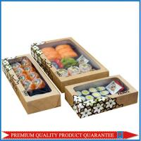 Clear Plastic Window Sushi Paper Food Box with Custom LOGO Print Color Manufactures