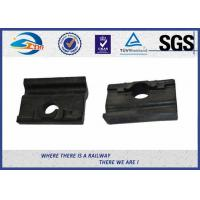 Black Colored Angled Guide Plate WFP14k Plastic and Rubber Part for Vossloh Fastening System / Railway Insulator Manufactures