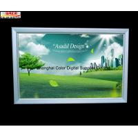 Silver Advertisement Snap Open Slim LED Light Box for Cafe , Supermarket Manufactures