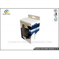 Black / Blue Electronics Packaging Boxes Glossy Finishing With PVC Window Manufactures