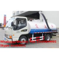 Factory customized JAC brand 4*2 LHD 4m3 fecal suction truck for sale, HOT SALE! China cesspoolage tank truck Manufactures