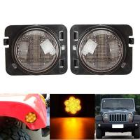 Amber 2007-2017 Jeep Wrangler Smoked Turn Signals Clear Lens IP 68 Waterproof Manufactures