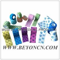 Pattern Imprinted Cohesive Flexible Sports Tape / Colored Athletic Tape for knee Manufactures
