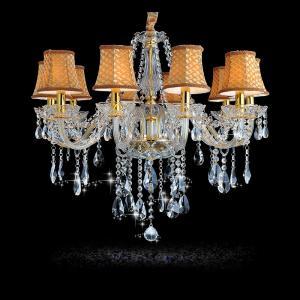 Luxury Gold Crystal Chandelier Home lighting For bedroom Kitchen Chandelier 6 Arm Lustres De Cristal chandeliers Manufactures