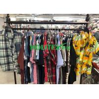 Adults 2nd Hand Mens Clothing , Second Hand Used Clothes Mens Shirts Short Sleeves Manufactures