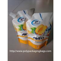 Quality Fruit Juice Stand Up Plastic Bags With Spout / Suction Nozzle for sale