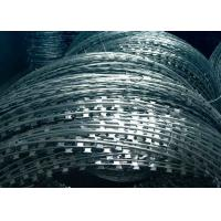 Hot Dipped Galvanized Razor Barbed Wire , Razor Wire Concertina CBT-65 Type Manufactures
