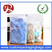 CPE Stronger Plastic Ziplock Bags For Packing Clothes , Clothes Packing Bags Clear Manufactures