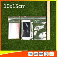 10 x 15 Clear Reclosable Zipper Plastic Bag / Self Sealing Poly Bag Manufactures