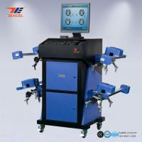 Wide Angle Blue CCD Wheel Aligner Automatic Machine With Wireless Communication System Manufactures