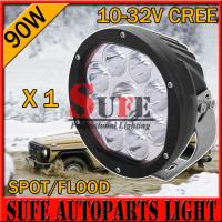 7 INCH 10W/ 90W CREE LED Driving Light Off Road tractor JEEP Truck work light spot flood Manufactures