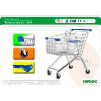 China 125L Supermarket Metal Shopping Trolley , European Style on sale
