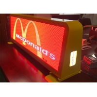 Outdoor Taxi Roof IP67 6500CD P5 Mobile LED Billboard Manufactures