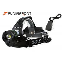 Waterproof Cree Xm-L T6 U2 Outdoor Led Headlamp, Rotating Zoom Bicycle Headlight Manufactures