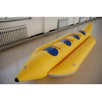Quality Summer Water Sports 4 Man Inflatable Banana Boat With 3 Chamber for sale