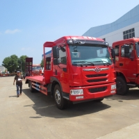 China FAW 4x2 6 Wheels Flatbed Special Purpose Truck Euro 3 Emission on sale