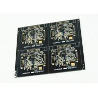 Black Soldered Multilayer PCB White Legend 4 Pcs Arrayed Gold Finish Manufactures
