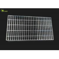 China Steel Cover Mesh Galvanized Bar Grating Floor Metal Grid Plain Tread Step Stair on sale