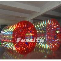 2.8mL x 2.2m Diameter Shining Human Hamster Inflatable Water Roller For Kid And Adult Manufactures
