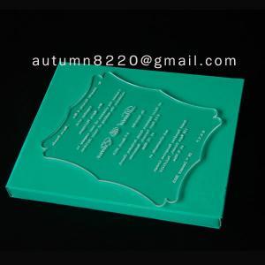 ICB (4) unnormal wedding invitation plastic Manufactures
