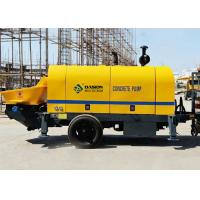 S Valve 40m3/H Stationary Trailer Concrete Pump With Diesel Engine 56kw Power Manufactures