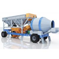 Automatic Mobile Concrete Mixing Plant For Highway 60m3/H Strong Load Capacity Manufactures