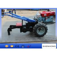 5 Ton Double Drum Two Wheel Walking Tractor Winch For Electric Power Construction Manufactures