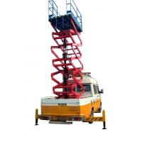11 Meters 450KG Loading Truck Mounted Scissor Lift with Extension Platform Manufactures