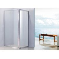 Quality Aluminium Handle Sliding Shower Enclosure 1100 x 800 With 15mm Adjustment Angle for sale