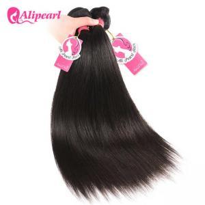 100% Human Malaysian Virgin Hair Bundles Silky Straight For Balck Women Manufactures