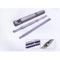 Contra Rotating Bimetallic Screw Barrel , Twin Screw & Barrel For Plastic Machine Manufactures