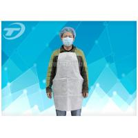 Waterproof Disposable Polythene Aprons 9 X 107 Cm / Disposable White Plastic Aprons Manufactures