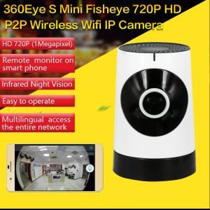 EC5 720P Fisheye Panorama WIFI P2P IP Camera IR Night Vision CCTV DVR Wireless Remote Surveillance on iOS/Android App Manufactures