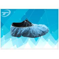 Blue SPP Nonwoven Disposable Waterproof Shoe Covers For Protection Use Manufactures