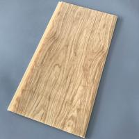 Yellow Wood Pvc Panel For Ceiling Decorative 25cm Width OEM / ODM Available Manufactures