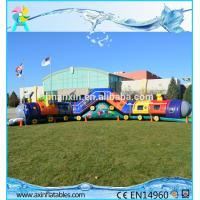 Chuggy Choo Choo train bouncer inflatable tunnels for kids inflatable obstacle course Manufactures