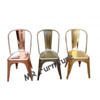 Metal Wedding Dining Chairs For Restaurant Gold Color 45cm Height 34 Inch Manufactures
