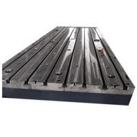 China Electrical Durable HT250 T Slot Base Plate For CNC Thread Milling Machine on sale