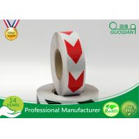 Dark Self Adhesive Arrow Reflective Electrical Warning Tape For Truck / Vehicles Manufactures